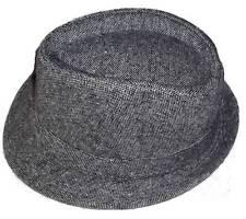 NEW GREY WOOL STYLE TRILBY FEDORA FANCY DRESS HAT gangster vintage cap A98 gray