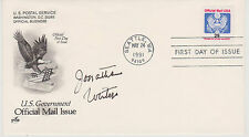Signed Jonathan Winters Fdc Autographed First Day Cover