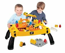 Caterpillar Constructor Table with CAT truck, bloks and crane Mega Bloks 07860U
