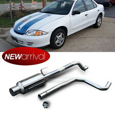 """Fit Cavalier 95-98 Sunfire 4"""" Tip Stainless Steel Full Catback Exhaust System"""