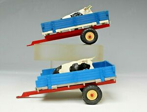 BRITAINS FARM TOYS #9568 ANIMAL TRANSPORTER FARM CART with COW x 2 MODELS...!!