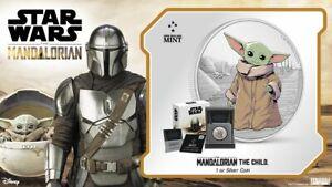 2021 Niue Star Wars Mandalorian - The Child Baby Yoda - 1oz .999 Silver Coin