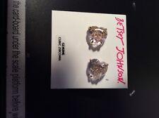 $40 Betsey Johnson Heart Pave Skull Earrings Q15a