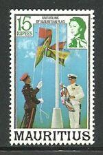 Album Treasures Mauritius  Scott # 462  15r Elizabeth  Raising Flag  MNH