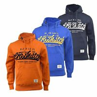 Mens Hoodie Crosshatch Hanglide Print Hooded Pull Over Sweatshirt Top S-XXL