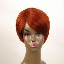 perruque afro femme 100% cheveux naturel courte cuivré intense ref WHIT 01/130