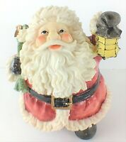 "Festive Jolly Santa Figurine Pack of Toys Lantern 6"" Tall"