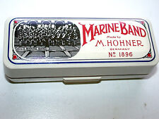 Beautiful Vintage 1896 C Marine Band M. Hohner Harmonica In Case & Instructions