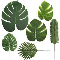 60 Fake Faux Artificial Tropical Palm Leaf Green Monstera Leaves Wedding Decor