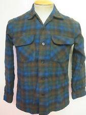"Genuine Pendleton Wool Check Flannel Shirt - S 34"" Euro 44 - Blue/Brown"