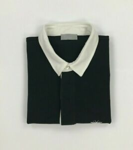 Men's Black & White Dior Polo Shirt Size 48 Small S Short Sleeve Bee Logo A/B