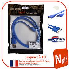 NGI-Câble USB 3.0 HiSpeed USB A / Micro USB B longueur 1 m