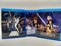 star wars holy Trinity films only despecialized blu ray trilogy set Jedi empire