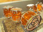Ludwig Amber Vistalite Drum Set (Bonham) 5 Pc