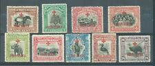 North Borneo 1918 Red Cross 9 values to 24c sg.235-8, 240-1, 243-5   c.d.s. used