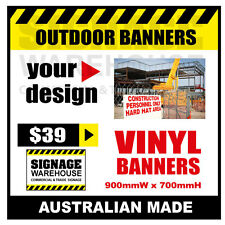 Custom Outdoor Vinyl Banner Sign  - 900mmW x 700mmH Signage Warehouse