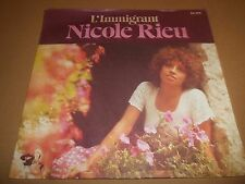 "Nicole stratagemmi ""l'immigrant"" 7"" SINGLE 1976 ottime Barclays P/S"
