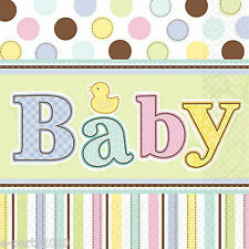 BABY SHOWER Tiny Bundle LUNCH NAPKINS (36) ~ Birthday Party Supplies Serviettes