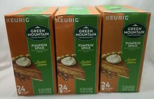 Green Mountain Pumpkin Spice Coffee, 3 Pack, 72 Keurig K-Cup Pods, BB 8/21