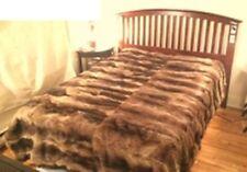 """New Refurbished Natural Raccoon Racoon Fur Blanket Throw Size 60"""" X 80"""""""