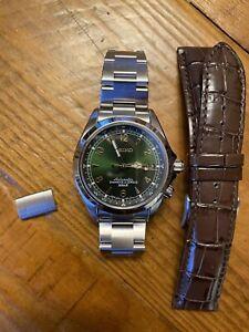 Seiko Alpinist Green Men's Watch - SARB017 on Ginault 94530G Bracelet