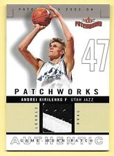 03/04 Fleer Patchworks Level 2 #AK Andrei Kirilenko 2 Color Patch Card #045/100