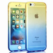 Apple IPHONE 5/5s/Se Full Body 360 Silicone Cover Case Yellow / Blau