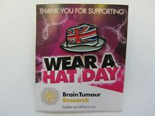 Union Jack Hat Badge - Wear A Hat Day - Brain Tumour Research