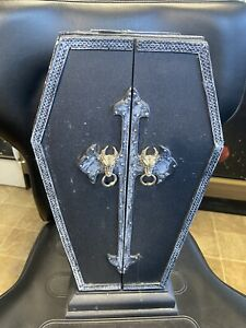 """RARE Standing Coffin Jewelry Box 15"""" Made of Resin"""