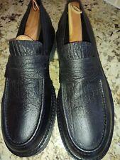 New Calvin Klein Black 'Bullhide print' Leather Casual Shoes- US Size 13 D (Men)