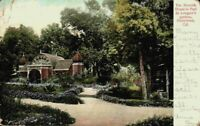 Moorish House Paul De Longpre's Gardens Hollywood California CA Vintage Postcard