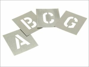 Stencils - Set of Zinc Stencils - Letters 2.1/2in