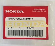 HONDA MARK 65mm WHITE DECAL STICKER LOGO BADGE 100% GENUINE ORIGINAL