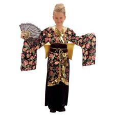 Large Girls Geisha Girl Costume - Dress Fancy Japanese Kimono Child