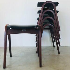 "A SET OF 5, VINTAGE ""STACKING STOOL"" DESIGNED BY  ISAMU KENMOCHI"