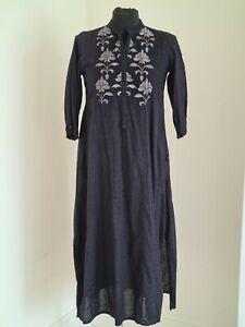 Ego- Black Kurta with Grey Embroidery - Size XS