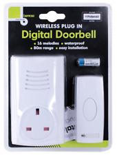Wireless Plug In Door Bell 16 Chime Doorbell 80M Range Plug In Waterproof Socket