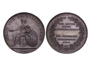 Switzerland - 1827 Von J. F. Gruner Huge Galvano Medal aUNC - RARE - SM Leu 560