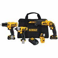 DEWALT DCK413S2R 12V MAX Li-Ion 4-Tool Cordless 12 Volt Combo Kit