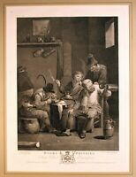 """Boors drinking"" Kupferstich v. J.B.Michel nach A.van Ostade, b. J.Boydell 1779"