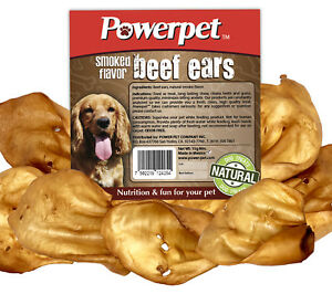 ALL NATURAL Beef SMOKED Cow Ears DOG Treats 25CT- FDA & USDA APPROVED-
