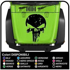 adesivo per cofano auto  hummer H1 H2 H3 Teschio effetto consumato Punisher