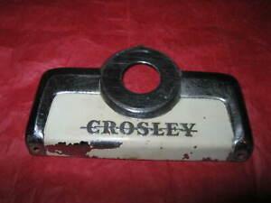 Vintage Crosley Refrigerator Temperature Control Escutcheon - 40's- to mid '50's