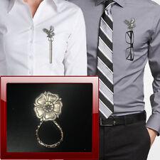 English Rose PP-G64 Pewter Pin Brooch Drop Hoop Holder Glasses,Pen,Jewellery