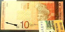Malaysia RM10 11th Printing Error VF 2 pinholes