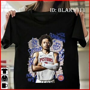 Cade Cunningham Detroit Pistons Custom 2021 NBA Draft Basketball T-shirt