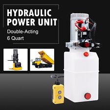 6 Quart Poly Double Acting Hydraulic Pump For Dump Trailer 12 Volt