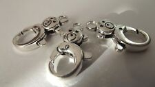 3 Fort Grand Teddy Bear Fermoirs Bright Silver Jewelry Making Charm Craft