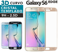 PROTECTOR CRISTAL TEMPLADO SAMSUNG GALAXY S6 EDGE completo full tempered glass