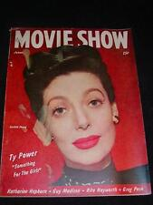 """Vintage MAGAZINE """"MOVIE SHOW"""" Jan. 1947 Issue LORETTA YOUNG on Cover 90 pgs."""
